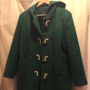 ASOS Curve Green coat size 16